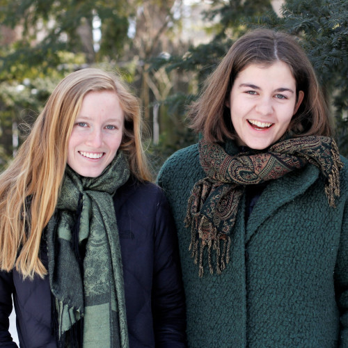 Ania Wright '20, left, and Katrine Østerby '21.