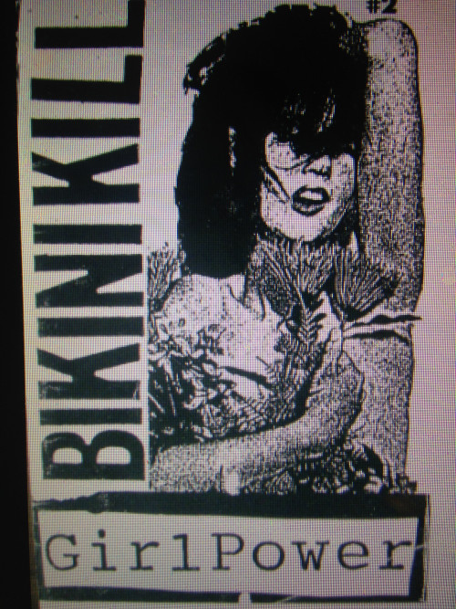 """Girl Power,"" a zine written and produced in 1991 by the punk band Bikini Kill in Olympia, Washington."