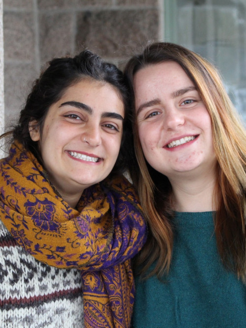 As a second-year COA student, Mona Ayoub, left, partnered with Anđela Rončević '19, right, w...