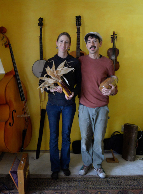 Adam Nordell '05 and Johanna Davis own and operate Songbird Farm and play music together in the folk/bluegrass duo Sassafrass Stomp.