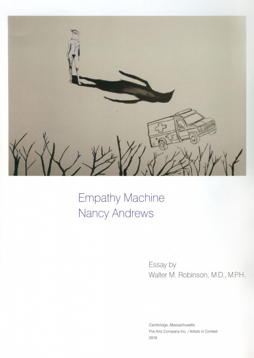 "The work of COA film professor Nancy Andrews is featured in ""Empathy Machine,"" part of an arts series published by The Arts Company Inc./Artists in Context, 2016."