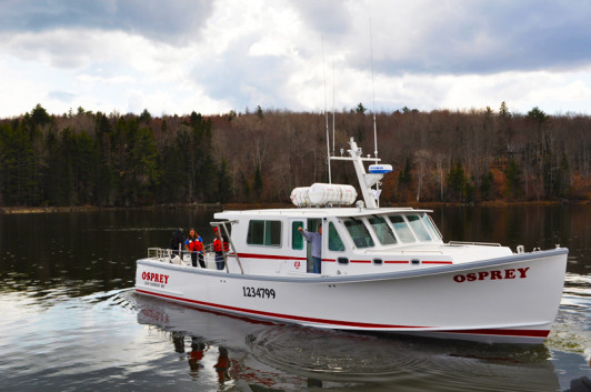 RV Osprey sets sail in Surry, ME