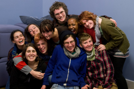 Members of Spectrum, a student-led group.