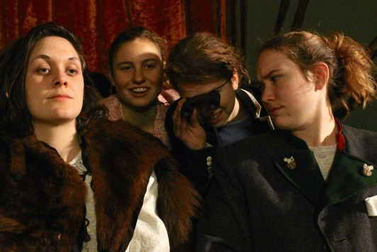 """The Sneeze,"" with a cast including, from left, Isabel Hussey, Hana Keegan, Isabel Shaida, and Ursula Ostrander, plays at the Criterion Theatre Friday, March 4 and Saturday, March 5, 2016."