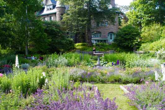 College of the Atlantic's Turrets Seaside Garden, maintained by head gardener Barbara Meyers.