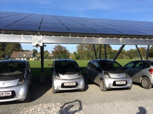 Solar-powered, community-owned solar charging stations on Samsø Island, Denmark, are one example of an owenership model that could lead to energy solutions for Maine islands.