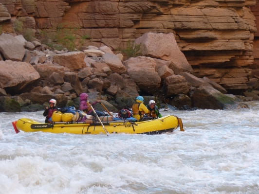White water rafting in the Grand Canyon.