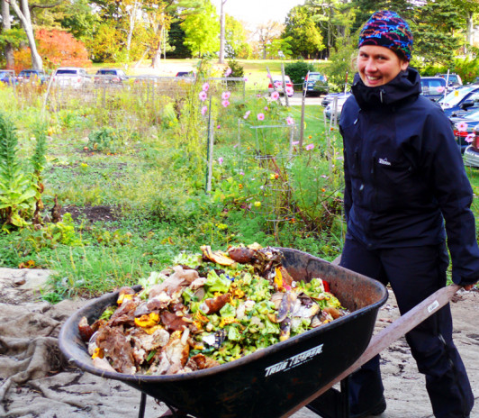 Lisa Bjerke started composting at COA as a first-year student.
