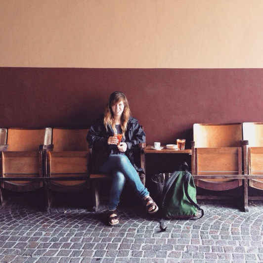 Anna Maddamma '16 during her time in Santorso, Italy.