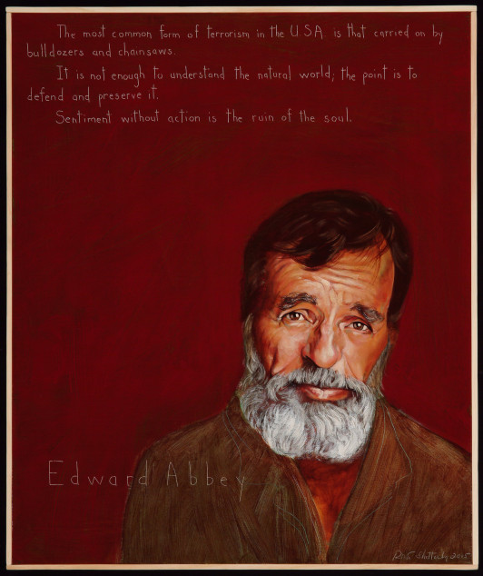 Edward Abbey, by Robert Shetterly