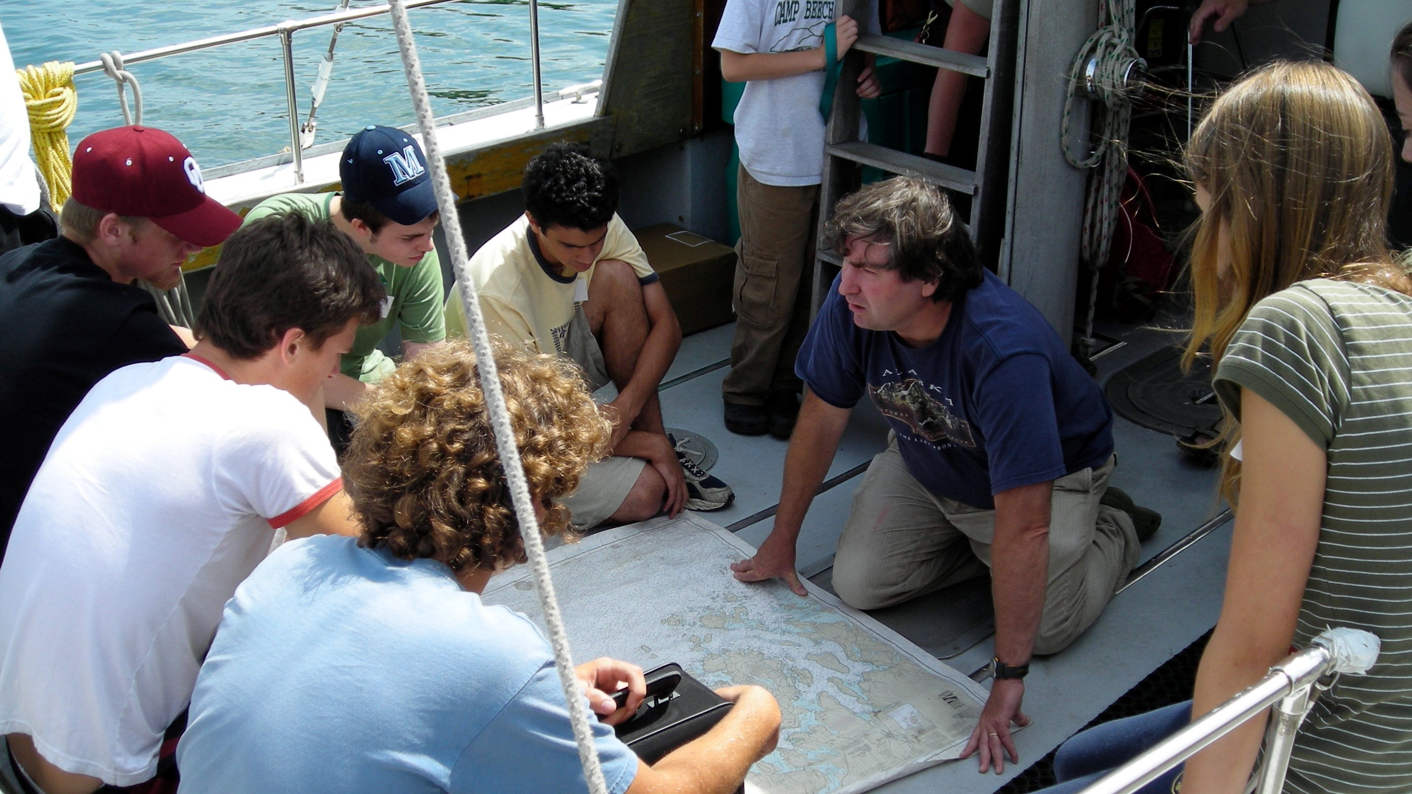 College of the Atlantic professor of ecology and natural history John Anderson explains the coast...