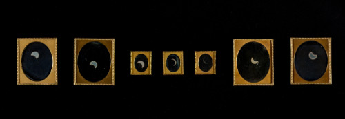 Daguerreotypes of solar eclipse.