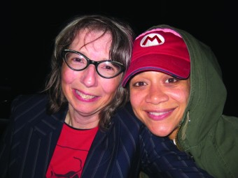 COA film prof. Nancy Andrews,left, and actress Michole Briana White.