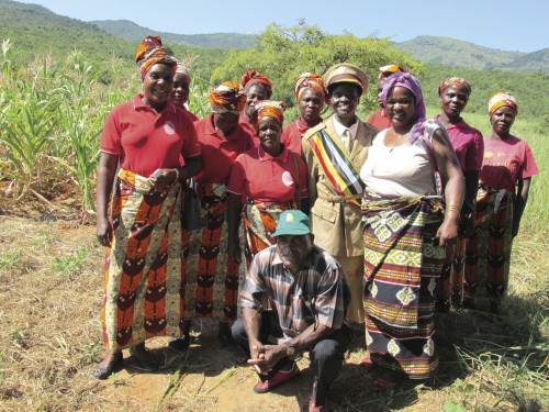 Members of a Manica union belonging to UNAC, the National Union of Farmers in Mozambique, host a visit with UNAC's late Pr...