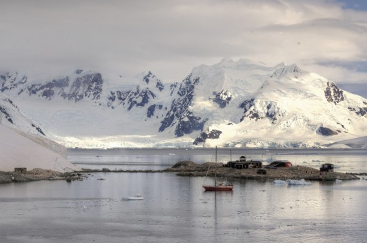 Chile's González Videla research station in Paradise Bay on the Antarctic Peninsula