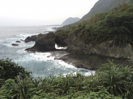 A cove south of Hualien on Taiwan's eastern coast, where Tzu Chi Foundation is located