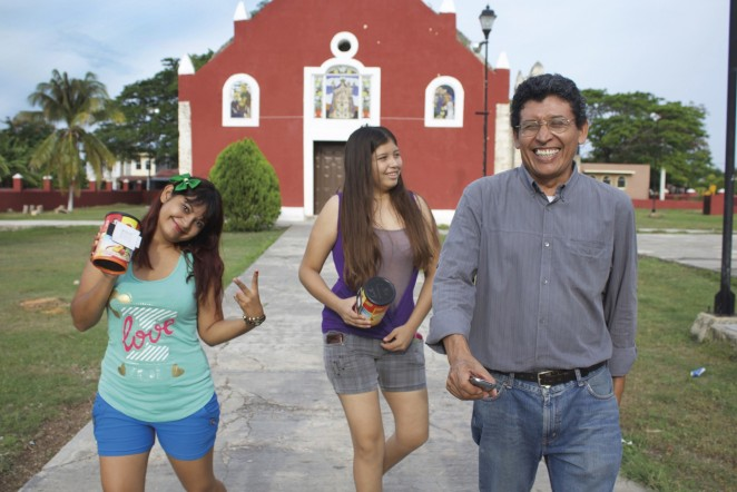 In 2015, Rebecca Haydu '16 helped to launch Centro Cultural RealizArte with one of the host families from COA's Yucatán Program and funds from the Davis Projects for Peace. The center celebrates and teaches local culture, Mayan language, and various arts. Here students leave the local church with their pinhole cameras.