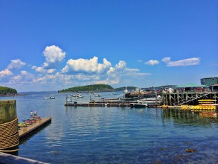 Summer view of Frenchman Bay from Bar Harbor