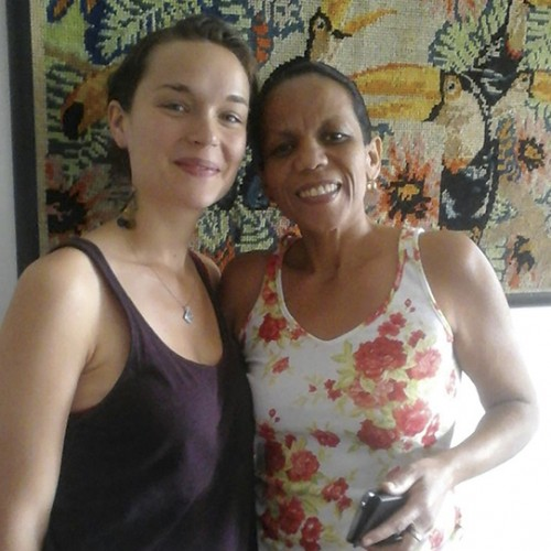 Anouk with Sandra Ferreira Mendez de Azevedo the woman she calls her Brazilian mother.