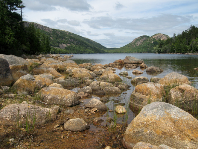 Jordan Pond and The Bubbles, Acadia National Park.