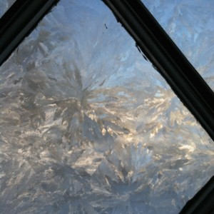 turrets window ice