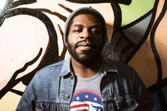 Hanif Willis-Abdurraqib delivers the keynote address at College of the Atlantic's 2017 commencement on Saturday, June 3.