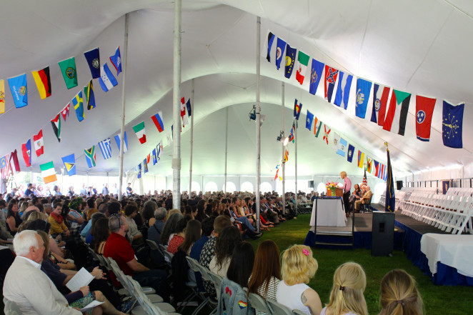 College of the Atlantic Commencement draws family, friends, and alumni from near and far.