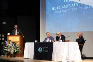 Panel discussion on US-EU relations at the 2018 Champlain Institute.