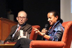 Amb. Susan Rice in conversation with Ted Widmer at the 2018 Champlain Institute.