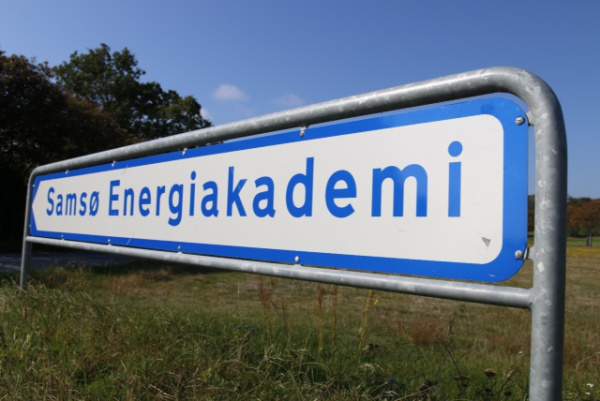 A sign in Samso, Denmark