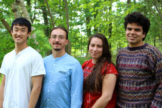 From left to right Junesoo Shin, Agim Mazreku, Aura Silva Martínez, and Jonás Pinzón Osorio2018 Summer Energy Fellows