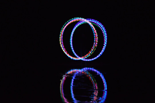 Spinning Poi at Sand Beach