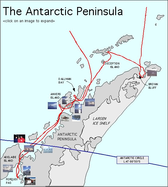 Antarctic Peninsula Map Map of The Antarctic Peninsula